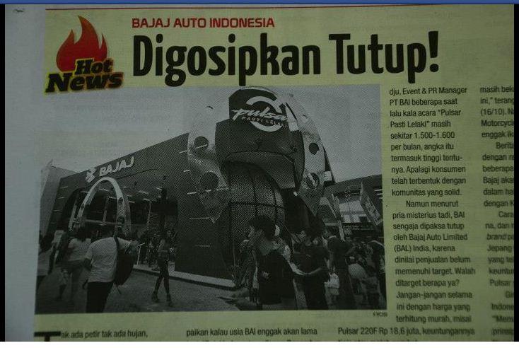 bajaj tutup di indonesia