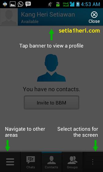 tutorial BBM untuk android