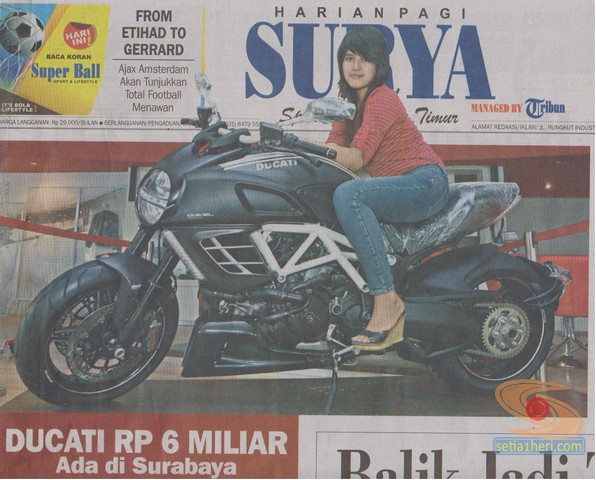 Ducati Diavel AMG edisi perdana di Surabaya
