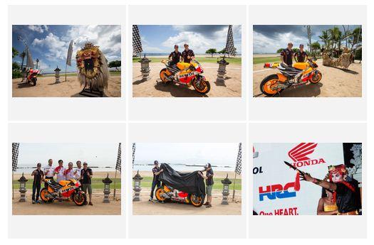 peluncuran livery repsol honda moto gp 2015 in bali indonesia