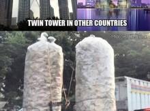 pedagang kerupuk seperti bawa twin tower bergerak