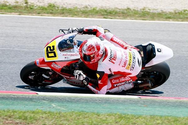 Dimas Ekky Pratama membalap di CEV Spanish Championship kelas Moto2 European Championship 2015 (2)