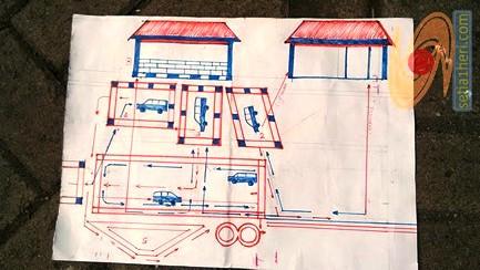 layout ujian praktek SIM A di satlantas polres gresik