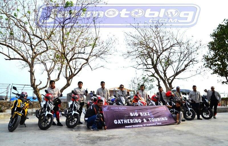 honda big bike turing di camplong madura 2015