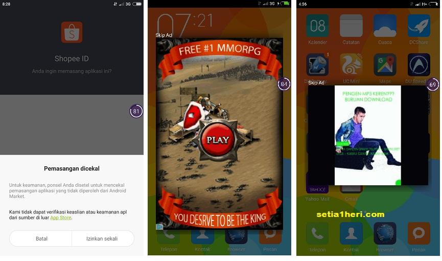iklan malware di redmi note 2 tahun 2015