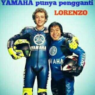 ini rider pengganti lorenzo yakni komeng