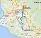 jarak bandara kuala lumpur dengan kota kuala lumpur malaysia