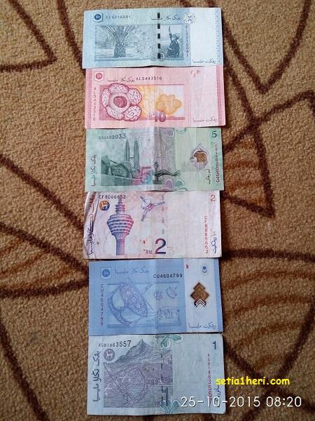 uang ringgit malaysia tahun 2015