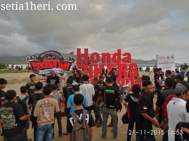venue Honda Bikers Day 2015 di Pacitan