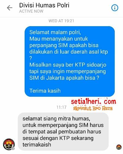 Divisi Humas Polri salah paham data SIM Online
