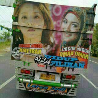 kumpulan tulisan lucu di pantat truk Pantura dan Indonesia tahun 2016~09