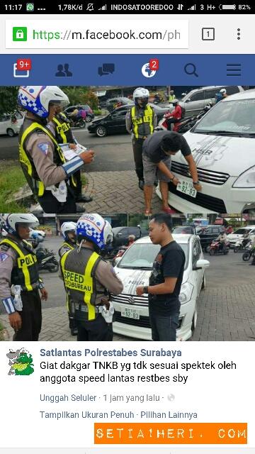 polisi menilang nopol kendaraan yang aneh