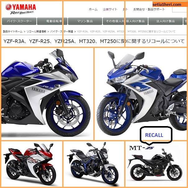 daftar motor yamaha recall di jepang tahun 2016