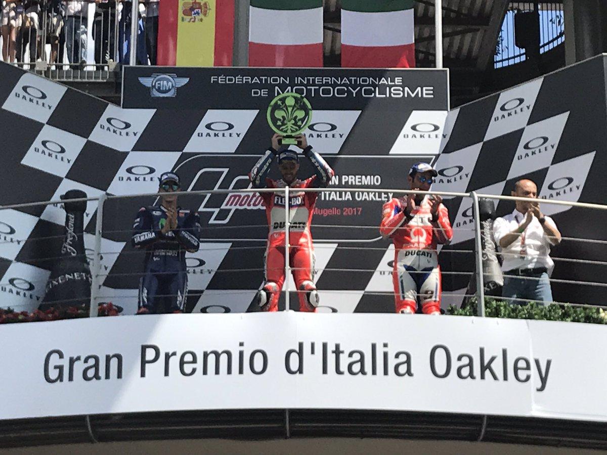 Hasil Moto GP Mugello Italia 2017 : #1 Dovizioso, #2 Vinales dan #3 ...