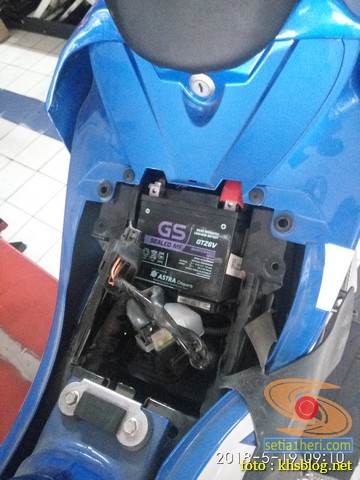 Servis pertamax Suzuki GSX R150, si 3CO ganti filter oli