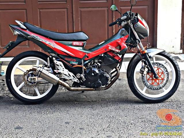 Kumpulan gambar modifikasi sepeda motor pakai piringan